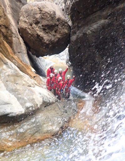 Canyoning à Bras rouge à Cilaos