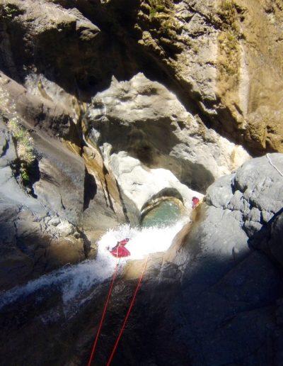 Canyon de Bras rouge à Cilaos