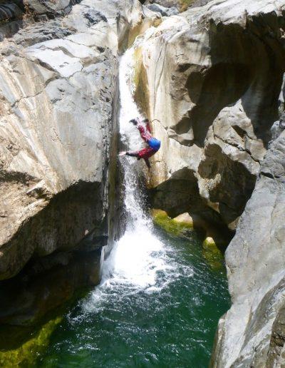Toboggan canyon de Bras rouge à Cilaos