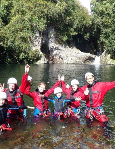 Canyoning en famille à la rivière des roches