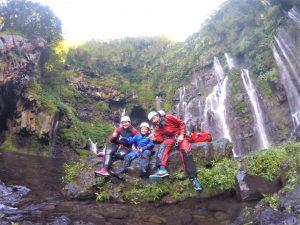 Canyoning en famille à Langevin Ti Grain Galet
