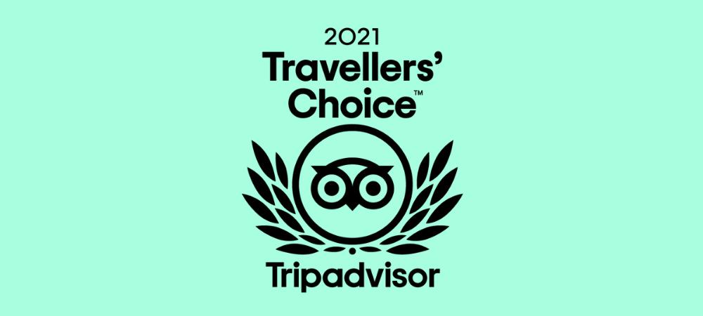 Prix Travellers' Choice 2021 de Tripadvisor